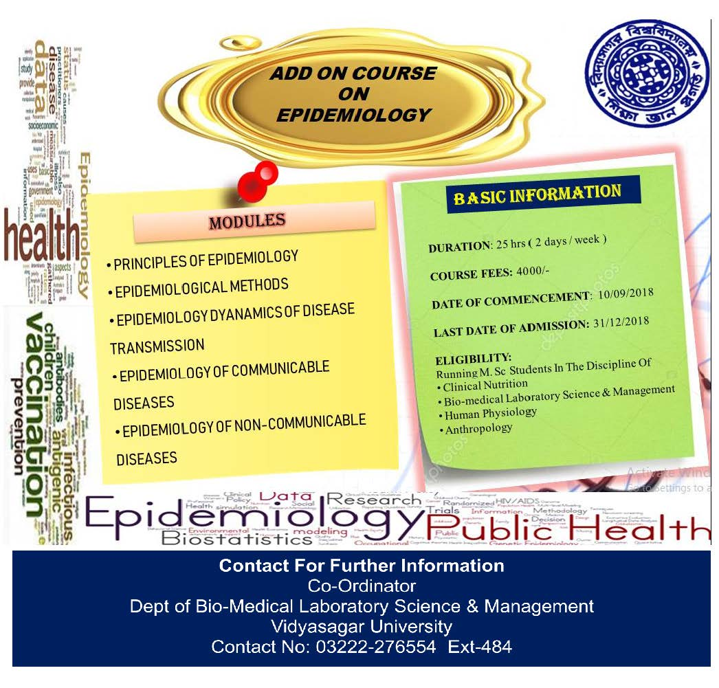 Add-on Course on EPIDEMIOLOGY